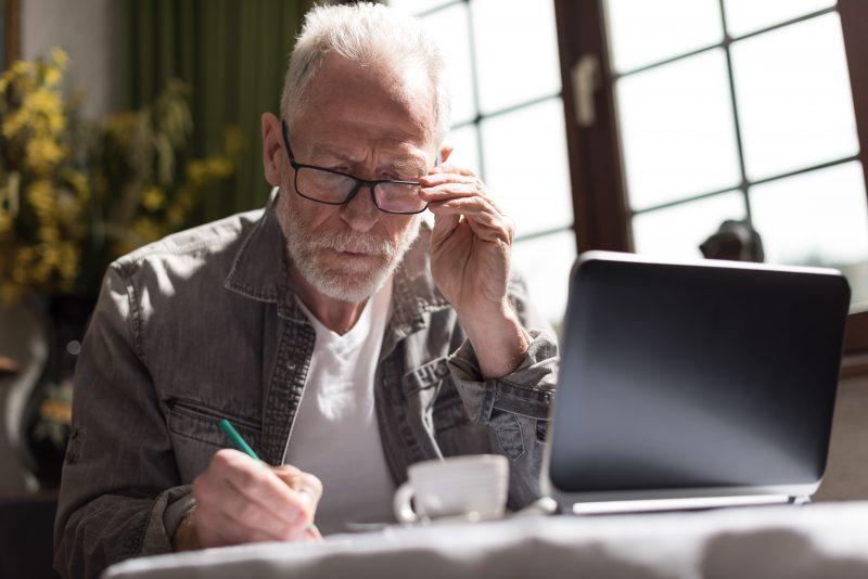 man-typing