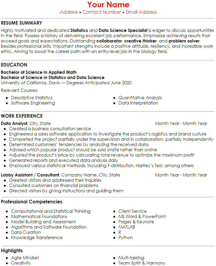 self_employment_resume_example