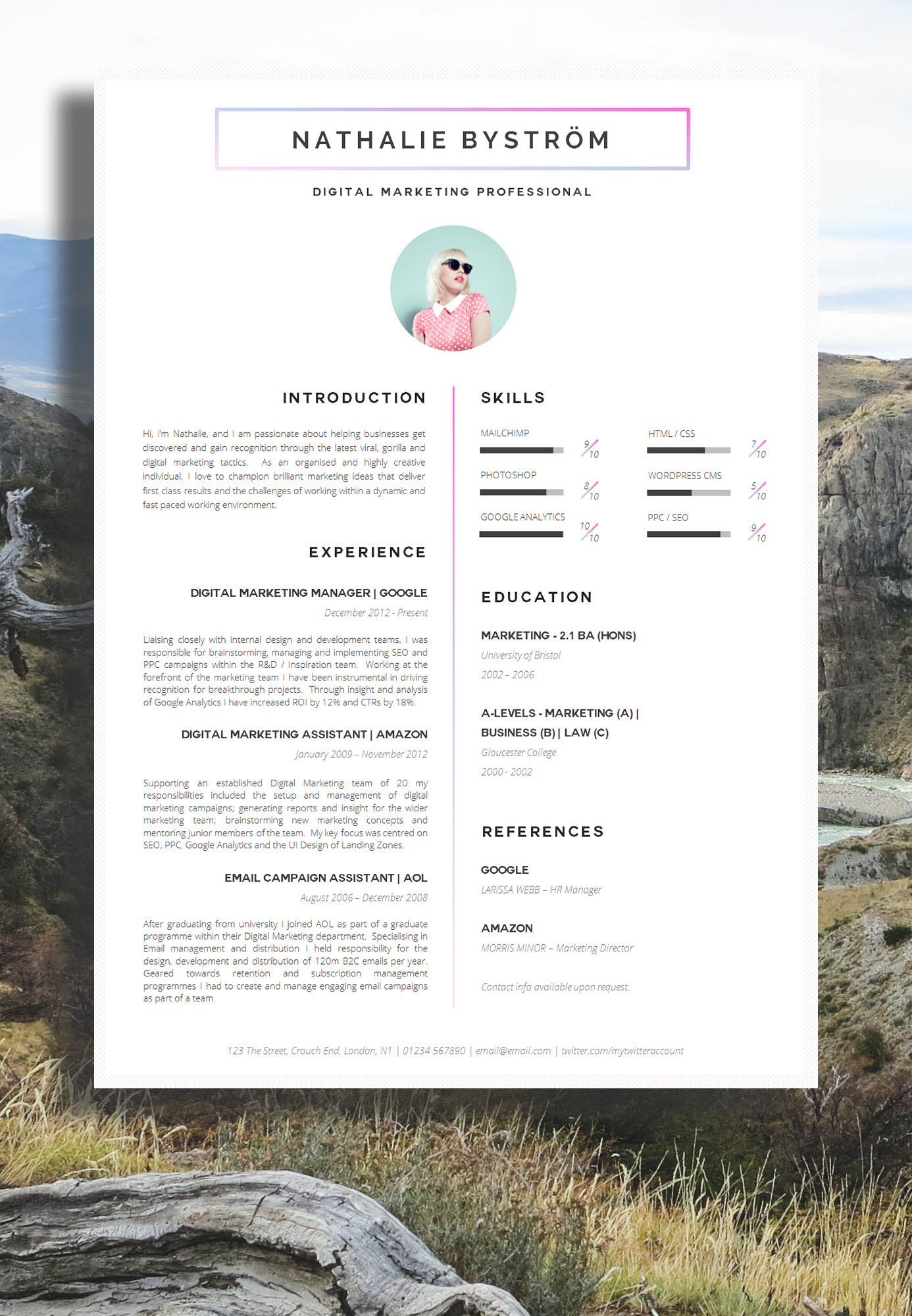 Creative Resume_1_photo  Resume Design Inspiration