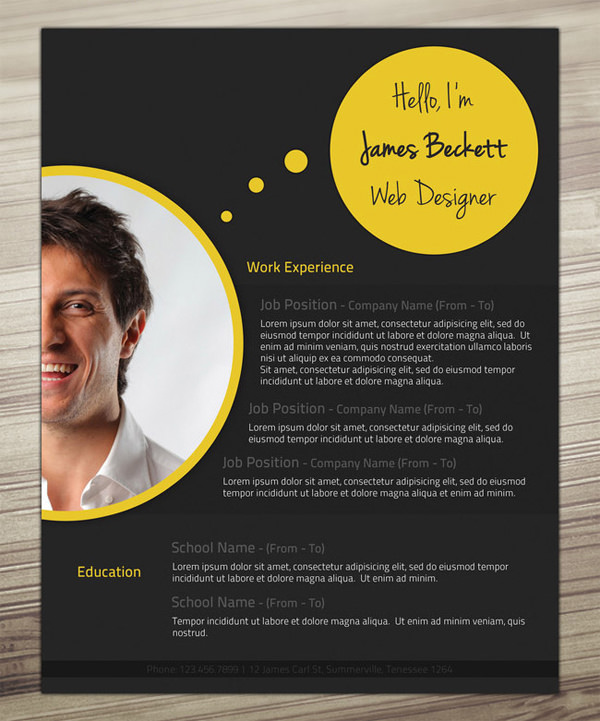 cv graphic design template