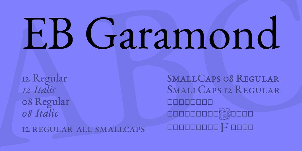 garamond - Resume Font Size Garamond