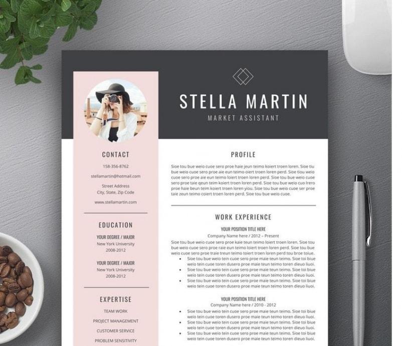 resume with photo