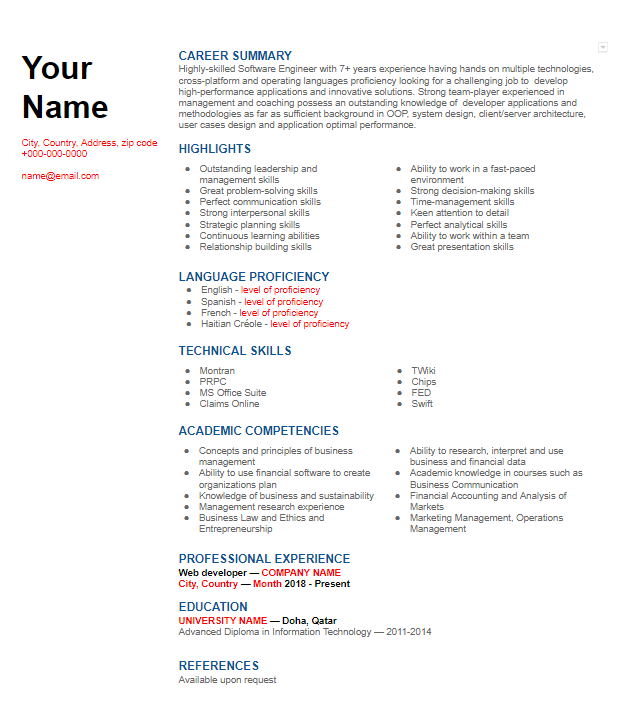chronological  functional or combination resume format